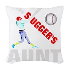 Baseball players aunt Woven Throw Pillow