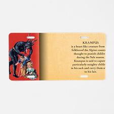Krampus Historical Aluminum License Plate