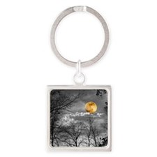 Harvest Moon Square Keychain