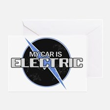My Car Is Electric 2 Greeting Card