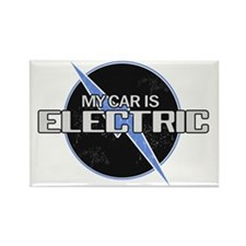 My Car Is Electric 2 Rectangle Magnet