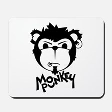 MONKEYPUNK 001 - BLACK Mousepad
