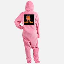 biker chick Footed Pajamas