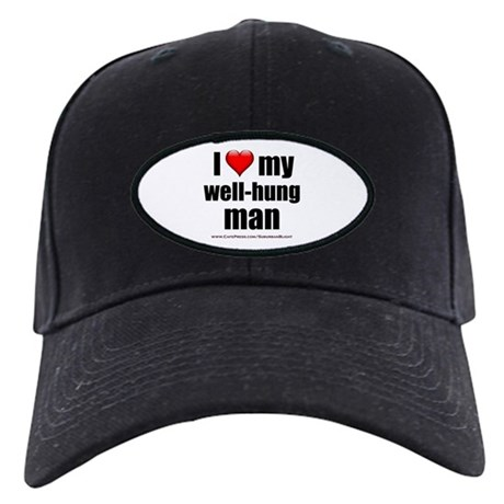 """Love My Well-Hung Man"" Black Cap"