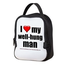"""Love My Well-Hung Man"" Neoprene Lunch Bag"