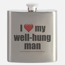 """Love My Well-Hung Man"" Flask"
