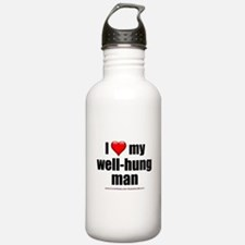 """Love My Well-Hung Man"" Water Bottle"