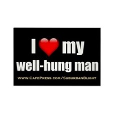 """Love My Well-Hung Man"" Rectangle Magnet (100 pack"