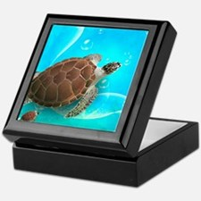 Cute Sea Turtles Keepsake Box