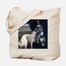 Victorian Borzoi Painting Tote Bag