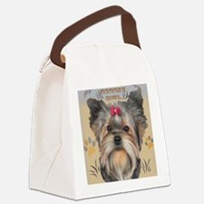 Yorkie Spoiled Rotten Mommas Girl Canvas Lunch Bag