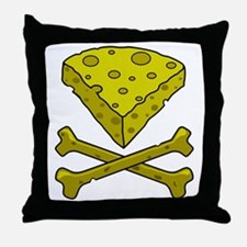 Cheese & Crossbones Throw Pillow