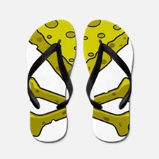 Cheese & Crossbones Flip Flops