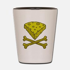 Cheese & Crossbones Shot Glass