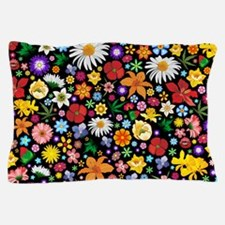 Spring Flowers Pattern Pillow Case