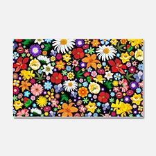Spring Flowers Pattern Car Magnet 20 x 12