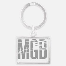MGB distorted dark Landscape Keychain