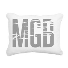 MGB distorted dark Rectangular Canvas Pillow