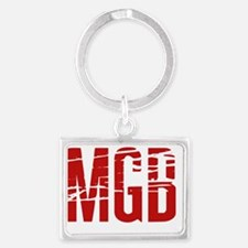 MGB distorted red Landscape Keychain