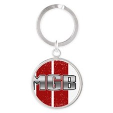 MGB Racing Stripe Round Keychain