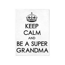 Keep Calm Super Grandma 5'x7'Area Rug