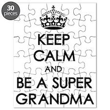 Keep Calm Super Grandma Puzzle