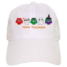 Happy Halloween Owls Baseball Baseball Cap