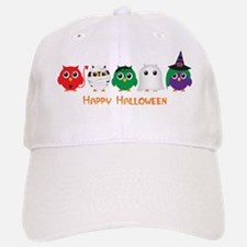 Happy Halloween Owls Baseball Baseball Cap