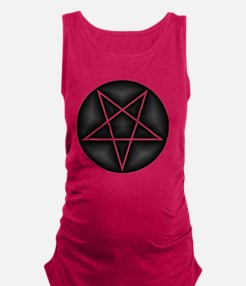 Inverted Red Pentacle Maternity Tank Top