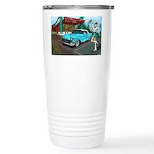 57 Chevy with Car Hop G Travel Mug