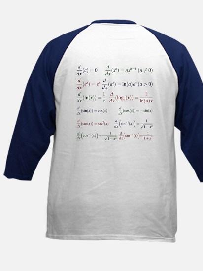Derivative Formulas Kids Baseball Jersey