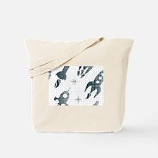 Halftone Rockets Tote Bag