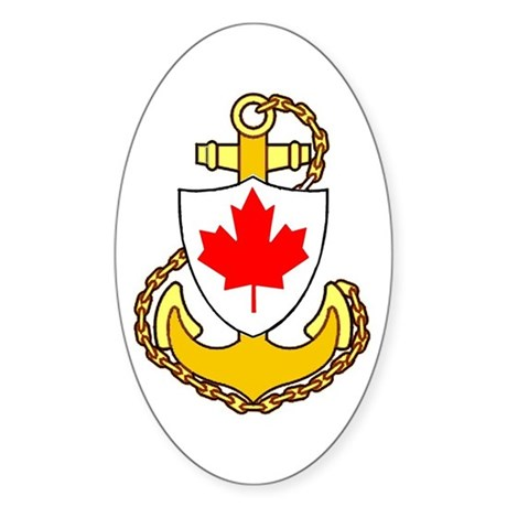 Royal Canadian Navy Sticker (Oval)