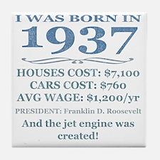 Birthday Facts-1937 Tile Coaster