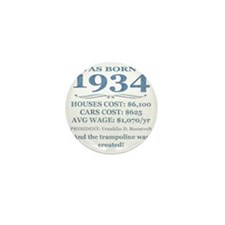 Birthday Facts-1934 Mini Button