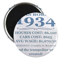 Birthday Facts-1934 Magnet