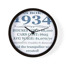 Birthday Facts-1934 Wall Clock