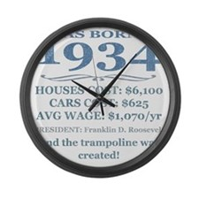 Birthday Facts-1934 Large Wall Clock