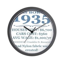 Birthday Facts-1935 Wall Clock