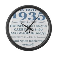 Birthday Facts-1935 Large Wall Clock