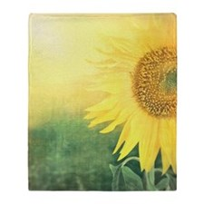 Beautiful Sunflower Throw Blanket