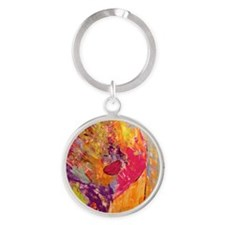 Woman of Color Round Keychain