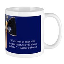 Blue Clothespin Angel Mug