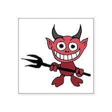 """Funny Little Devil Cartoon Square Sticker 3"""" x 3"""""""