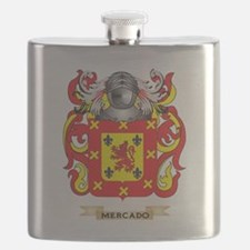 Mercado Coat of Arms - Family Crest Flask