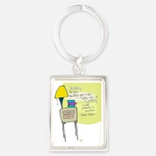 Books Before Bed Portrait Keychain