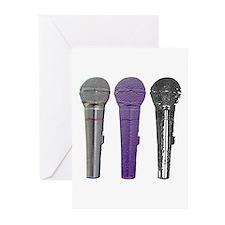 3 mics metal Greeting Cards (Pk of 10)