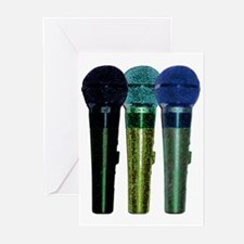 3 mics stacked greens Greeting Cards (Pk of 10