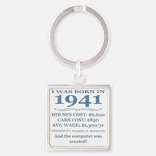Birthday Facts-1941 Square Keychain