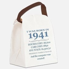 Birthday Facts-1941 Canvas Lunch Bag